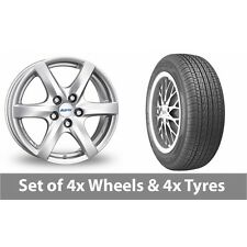 "4 x 14"" Alutec Blizzard Silver Alloy Wheel Rims and Tyres -  175/70/14"