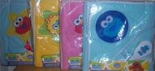 NEW SESAME STREET HOODED TOWEL WITH BRUSH & COMB, Elmo, Cookie Monster, Big Bird
