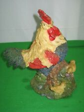 Country Farm Mother Hen and Chicks Resin