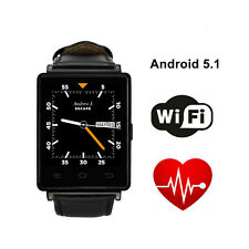 No.1 D6 3G Smartwatch Android 5.1 MTK6580 Quad Core WiFi BT 4.0 GPS smart watch