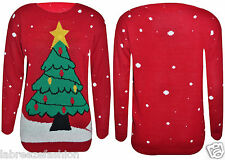 Mens Ladies Tree Jumper With Flash Light Christmas Jumper Novelty Sweater Top
