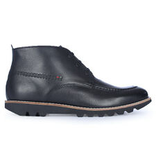 Mens Kickers Kymbo Black Moccasin Leather Boots