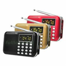Hot Portable LCD Digital FM Radio USB TF Mp3 Music Player Speaker For The Old FL