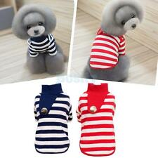Pet Dog Cat Cute Stripe T-shirt Clothes Cotton Vest Coat Puppy Costumes Outfit