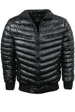 """Mens Black Puffer Jacket by Brave Soul """"Seed"""" Puffa Padded Bomber Sizes S to XL"""