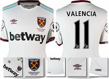 *16 / 17 - UMBRO ; WEST HAM UTD AWAY SHIRT SS + PATCHES / VALENCIA 11 = SIZE*