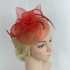 Wedding Bridal Feather Mesh Fascinator Hat Hairpin Ladies Tea Party Church Hat