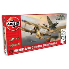 AIRFIX 50179 JUNKERS JU87R-2 GLOSTER GLADIATOR DOG FIGHT DOUBLE GIFT SET 1:72