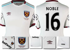 16 / 17 - UMBRO WEST HAM UNITED AWAY SHIRT SS + PATCHES  NOBLE 16 = KIDS SIZE