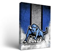 Suny Buffalo Ub Bulls Canvas Wall Art Vintage Design