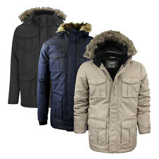 Mens Winter Coat by Brave Soul 'Canadian' Hooded Parka Jacket Sizes S - XXL