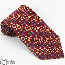 Authentic Tie BARTON MODA Red Ladybug Print 100% Silk Made in Italy Necktie Men