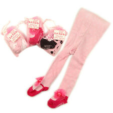 """BABY GIRLS CUTE """"MARY JANE"""" LUXURY TIGHTS IN A GIFT BAG/POUCH"""