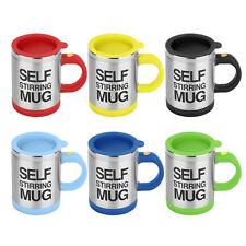 Stainless Self Stirring Mug Auto Mixing Tea Coffee Cup Office Gift YD004 F5