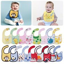 1pc Cute cotton waterproof Baby Boys Girls Kids Children Bibs Saliva Apron F5
