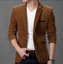 Fashion Mens Slim Fit Stylish Casual Two Button Suit Coat Jacket Blazers Size