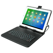 9.7'' Tablet Generic USB Keyboard Folios Leather Case Cover
