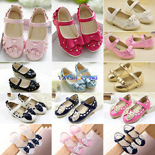 New Toddler Baby Girls Sandals Kids Bow Soft Flat Casual Princess Walking Shoes