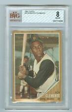 1962 TOPPS # 10 ROBERTO CLEMENTE BVG 8 NM-MT