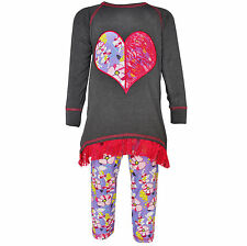 AnnLoren Girls Boutique Floral Lace Heart High Low Tunic Outfit 12/18 mo - 9/10