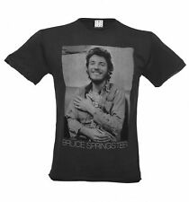 Official Men's Charcoal Bruce Springsteen Vintage T-Shirt from Amplified