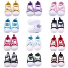 Baby Kids Sneakers Shoes 0-12M Toddler Boys Girls Canvas Soft Sole Crib Shoes
