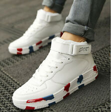 Chic  High Top Sneaker Mens Lace Up Skateboarding Air Force Athletic Boots
