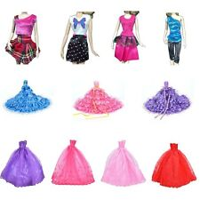 New Barbie Doll Fashion Handmade Clothes Dress Different Style For Kids Cute zk