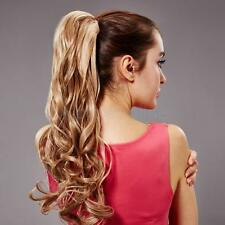 Popular Ponytail Hairpiece Long Clip On Extension Hair Pieces