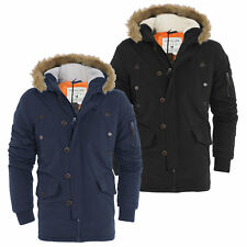 Mens Tokyo Lee Parka Parker Padded Lined Winter Jacket  Faux Fur Hooded Coat
