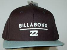 Billabong CAP Hat NEW mens SYSTEM FLAT BRIM Asphalt SNAP BACK 1 Size Surf Skate