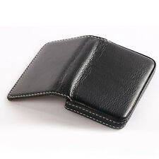 Mens & Womens Leather ID Credit Card Holder Purse Billfold Wallet Money Clip