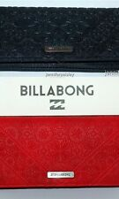 BILLABONG WALLET PURSE CLUTCH LADIES NEW well travelled BLACK  RED TRI Surf Logo