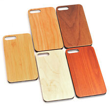 For iPhone 7 7Plus 6S Plus Natural Rosewood Walnut Bamboo Wooden Hard Case Cover