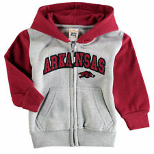 Arkansas Razorbacks Infant Raglan Full-Zip Fleece Hoodie - Gray/Cardinal - NCAA