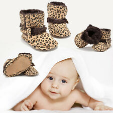 0-18 Months Lovely Toddler Leopard Bowknot Girl Baby Boots Crib Infant Shoes