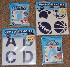 New ~ HORIZON ASSORTED Stencils (ABC, Assorted, Letters & Numbers, Shapes) Jumbo