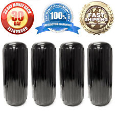 4x New Ribbed Boat Fenders Docking Pontoon V-Hull Bumpers Mooring Protection