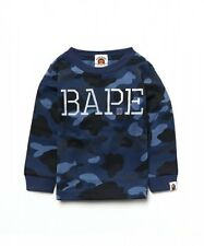 A BATHING APE COLOR CAMO BAPE L/S TEE Kids Cotton Round Neck T-shirt From Japan