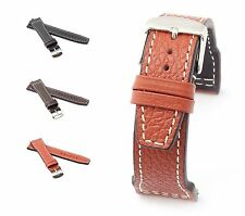 """RIOS1931 Buffalo Leather Watch Band """"Typhoon"""", 20-22 mm, 3 colors, new!"""