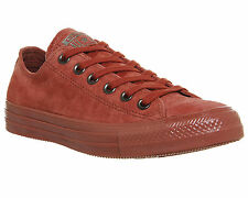 Mens Converse All star Low Leather ETRUSCAN RED SUEDE EXCLUSIVE Trainers Shoes