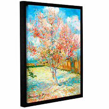 Pink Peach Tree by Vincent Van Gogh Framed Painting Print on Wrapped Canvas