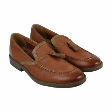 Clarks Garren Style Mens Brown Leather Casual Dress Slip On Loafers Shoes