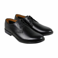 Clarks Hawkley Walk Mens Black Leather Casual Dress Lace Up Oxfords Shoes