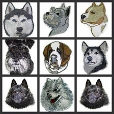 Beautiful Dog Faces Embroidered Iron On Patches (S )