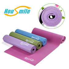 """72""""x24"""" Workout 6mm Thick Non-Slip Yoga Mat Pad Exercise Fitness Light Weight"""