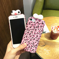 For iPhone 7 7 Plus 6 6S Plus Fashion Korean Style Lovely Cute Pink Leopard Case