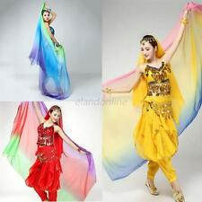 Women Girls  Bollywood Dance Sheer Gradient Veil Shawl Face Scarf Belly Costume