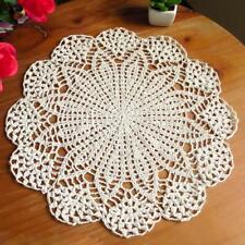 A Lot-15 Inch Round Cotton Hand Crochet Doilies Placemats Coasters Doilies B02