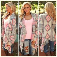 Womens Knitted Open Cardigan Long Sleeve Top Ladies Jumper Knitwear Sweater Coat